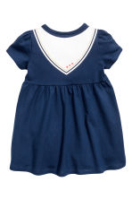 Jersey dress - Dark blue - Kids | H&M CN 2