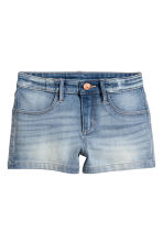 Short en jean - Bleu denim clair -  | H&M FR 2