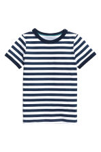 2-pack jersey pyjamas - Dark blue/Striped - Kids | H&M 2