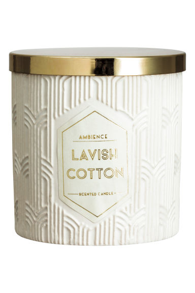 Bougie parfumée - Blanc/Cotton - Home All | H&M FR 1