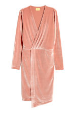 Velour dress - Powder pink - Ladies | H&M CN 2