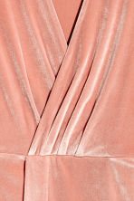 Velour dress - Powder pink - Ladies | H&M CN 3