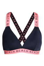 Bikini top - Dark blue/Pink - Ladies | H&M CN 2