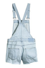 Denim dungaree shorts - Light denim blue - Ladies | H&M 3