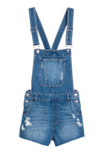 Denim dungaree shorts - Denim blue - Ladies | H&M CN 2