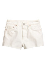 Denim shorts - White denim - Ladies | H&M CN 2