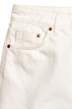 Denim shorts - White denim - Ladies | H&M CN 4