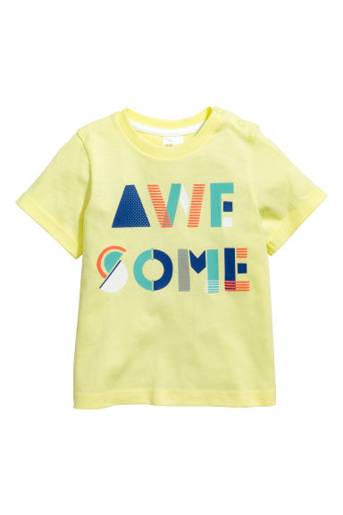 Printed T-shirt - Yellow -  | H&M