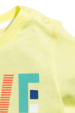 Printed T-shirt - Yellow -  | H&M 2