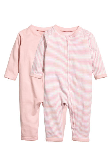 2-pack all-in-one pyjamas  - Light pink - Kids | H&M 1
