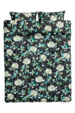 Set copripiumino a fiori - Nero/verde - HOME | H&M IT 2