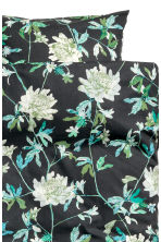 Set copripiumino a fiori - Nero/verde - HOME | H&M IT 3