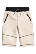 Sweatshirt shorts - Light beige - Kids | H&M CN 2