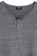 T-shirt with buttons - Dark grey marl - Men | H&M 3