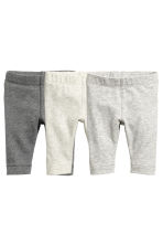 3-pack pima cotton leggings - Grey marl - Kids | H&M 2