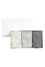 3-pack pima cotton leggings - Grey marl - Kids | H&M 1