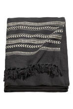 Jacquard-weave bedspread - Anthracite grey/Striped  - Home All | H&M CN 2