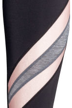 Yoga tights - Black/Powder pink - Ladies | H&M 2