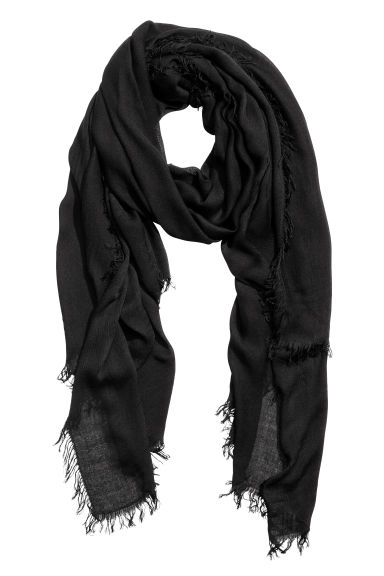 Airy scarf - Black - Ladies | H&M