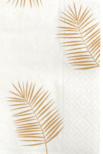 Paper napkins - White/Palm leaf - Home All | H&M CN 2