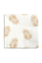 Paper napkins - White/Palm leaf - Home All | H&M CN 1