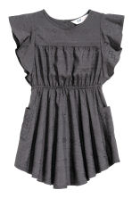Textured dress - Dark grey -  | H&M CN 2
