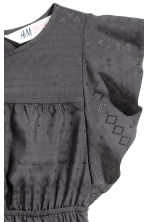 Textured dress - Dark grey -  | H&M CN 3