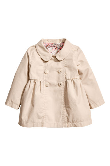 Cotton coat - Light beige -  | H&M CA 1