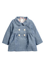 Cotton coat - Denim blue - Kids | H&M 1