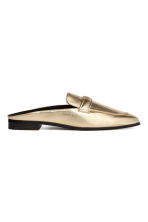 Backless loafers - Gold - Ladies | H&M GB 1
