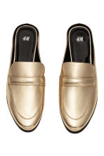 Backless loafers - Gold - Ladies | H&M GB 2