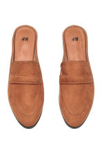 Backless loafers - Cognac brown - Ladies | H&M CA 2