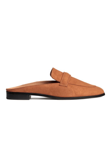 Backless loafers - Cognac brown - Ladies | H&M CA 1
