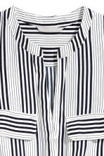 Sleeveless dress - White/Dark blue/Striped - Ladies | H&M CN 2