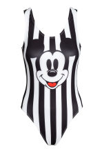 Swimsuit High leg - Black/Mickey Mouse - Ladies | H&M 2