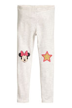 Jersey leggings - Light beige/Minnie Mouse - Kids | H&M 2