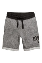 Sweatshirt shorts - Black marl - Kids | H&M CN 2