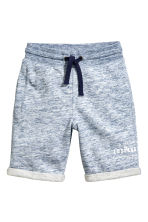 Sweatshirt shorts - Blue marl - Kids | H&M CN 2