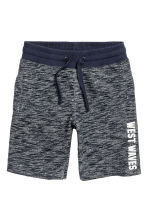 Sweatshirt shorts - Dark blue marl - Kids | H&M CN 2