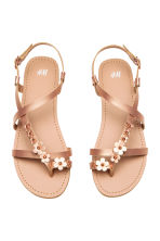 Sandals with flowers - Rose gold - Kids | H&M 1