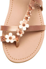 Sandals with flowers - Rose gold - Kids | H&M 4