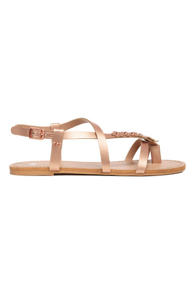 Sandals with flowers - Rose gold - Kids | H&M CN 1
