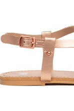 Sandals with flowers - Rose gold - Kids | H&M 3