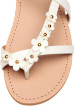 Sandals with flowers - White - Kids | H&M CN 4