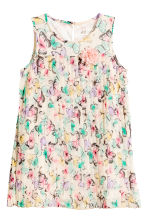 Pleated dress - Natural white/Butterflies - Kids | H&M 2