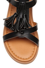 Sandals with tassels - Black -  | H&M 3