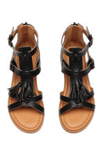 Sandals with tassels - Black -  | H&M 2