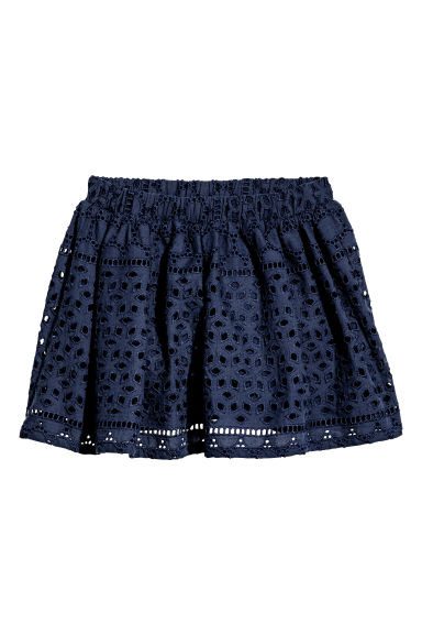 Embroidered skirt - Dark blue - Kids | H&M CN 1