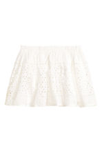 Embroidered skirt - White - Kids | H&M CN 1