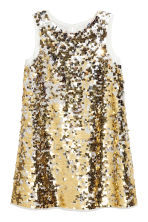 Sequined dress - Gold/White - Kids | H&M CN 2